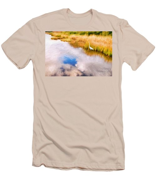 Cloud Reflection In Water Digital Art Men's T-Shirt (Athletic Fit)