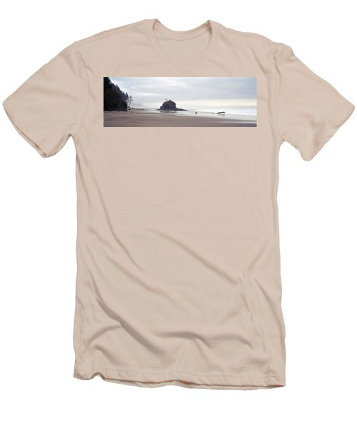 Coast La Push Olympic National Park Wa Men's T-Shirt (Slim Fit) by Panoramic Images