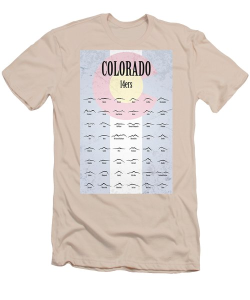 Colorado 14ers Poster Men's T-Shirt (Athletic Fit)