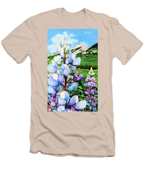 Colorado Summer Blues Close-up Men's T-Shirt (Athletic Fit)