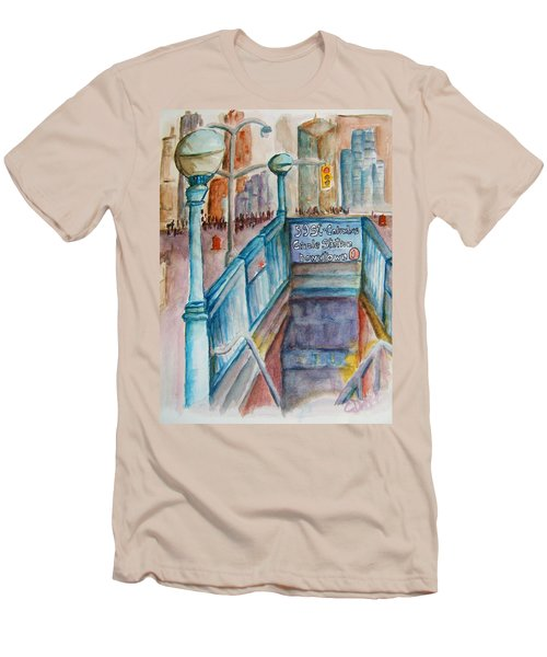 Columbus Circle Subway Stop Men's T-Shirt (Athletic Fit)