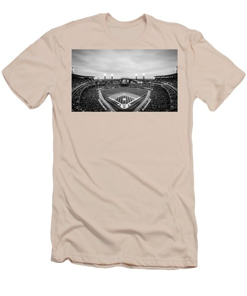 Comiskey Park Night Game - Black And White Men's T-Shirt (Athletic Fit)