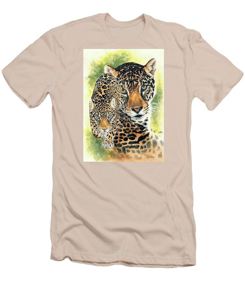 Men's T-Shirt (Slim Fit) featuring the mixed media Compelling by Barbara Keith