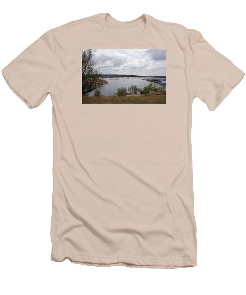 Conchas Dam Men's T-Shirt (Slim Fit) by Sheri Keith