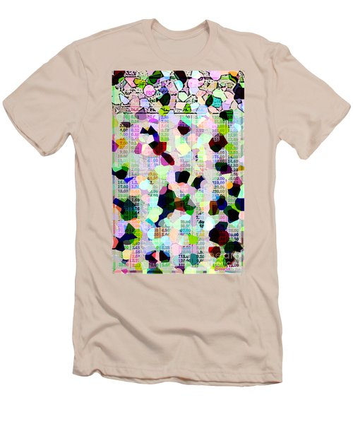 Men's T-Shirt (Slim Fit) featuring the photograph Confetti Table by Ecinja Art Works