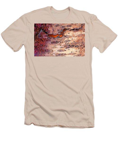 Men's T-Shirt (Slim Fit) featuring the photograph Copper Landscape by Stephanie Grant