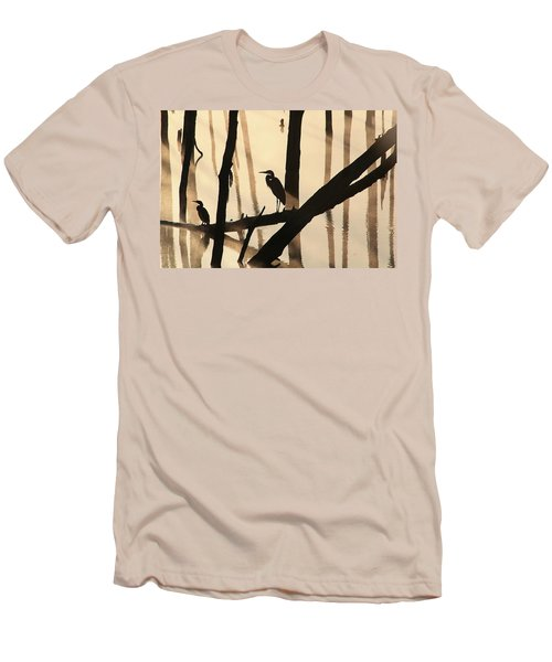 Cormorant And The Heron Men's T-Shirt (Athletic Fit)