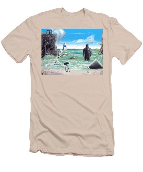 Cosmic Broadcast -last Transmission- Men's T-Shirt (Slim Fit) by Ryan Demaree