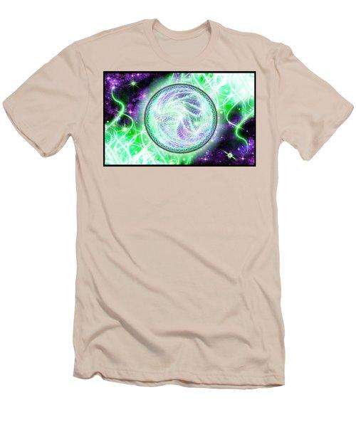 Cosmic Lifestream Men's T-Shirt (Slim Fit) by Shawn Dall