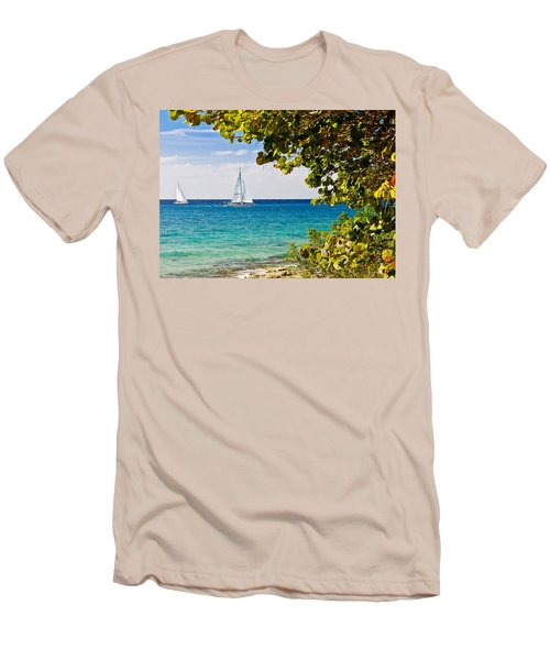 Cozumel Sailboats Men's T-Shirt (Athletic Fit)