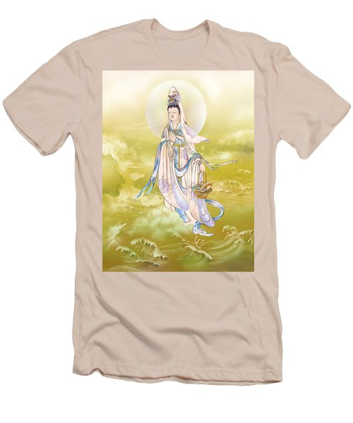 Men's T-Shirt (Slim Fit) featuring the photograph Creel Kuan Yin by Lanjee Chee