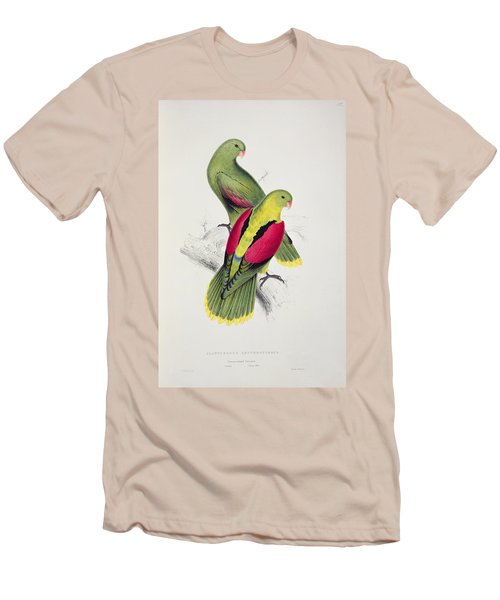 Crimson Winged Parakeet Men's T-Shirt (Athletic Fit)