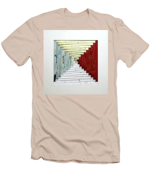 Crooked Staircase Men's T-Shirt (Slim Fit) by Ron Davidson