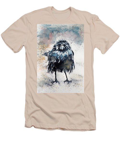 Crow After Rain Men's T-Shirt (Slim Fit) by Kovacs Anna Brigitta