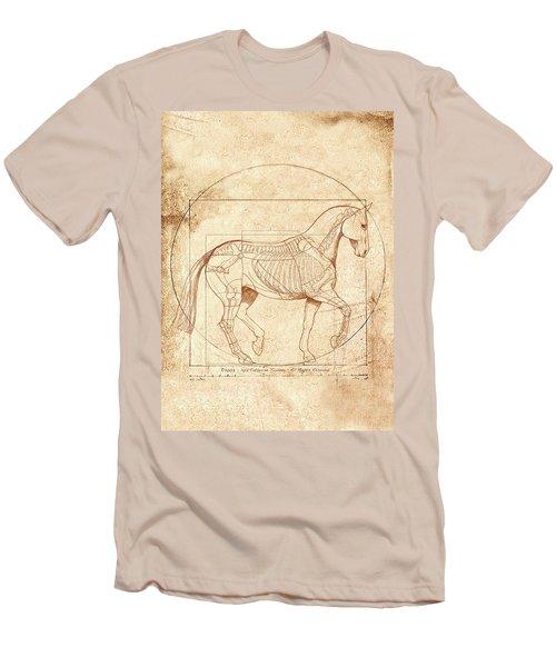 da Vinci Horse in Piaffe Men's T-Shirt (Athletic Fit)