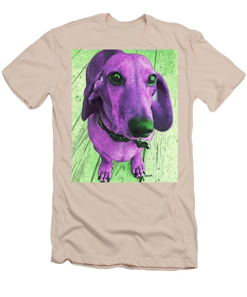 Dachshund - Purple People Greeter Men's T-Shirt (Athletic Fit)
