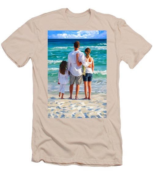 Dad And His Girls Men's T-Shirt (Athletic Fit)