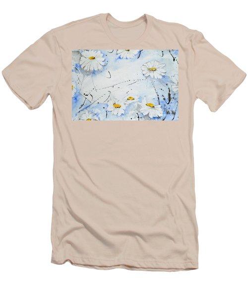 Daisies - Flower Men's T-Shirt (Athletic Fit)