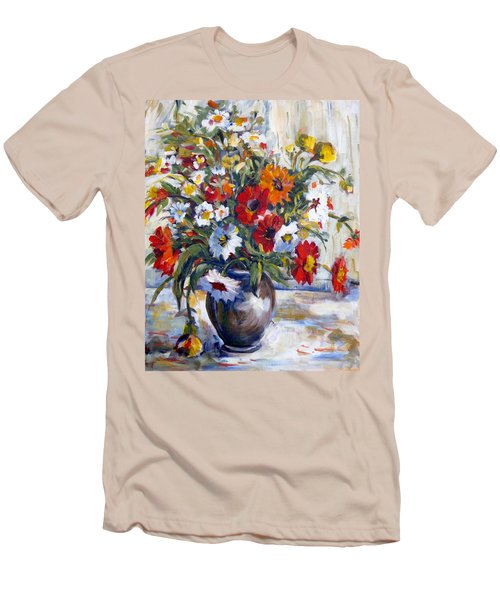 Daisies Men's T-Shirt (Slim Fit) by Alexandra Maria Ethlyn Cheshire