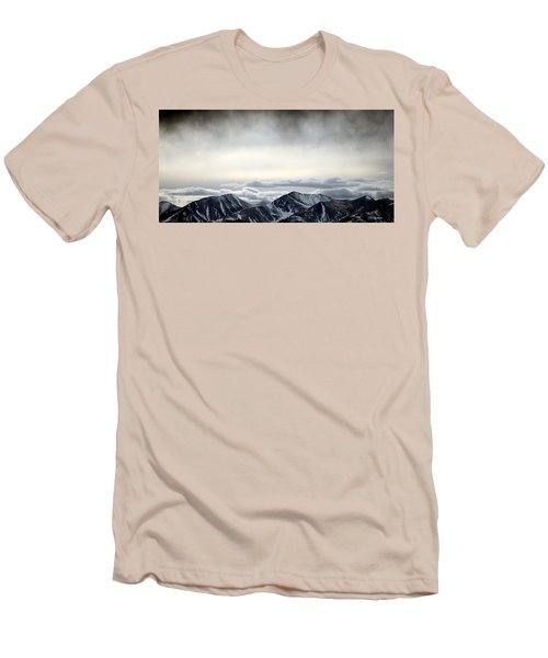 Men's T-Shirt (Slim Fit) featuring the photograph Dark Storm Cloud Mist  by Barbara Chichester