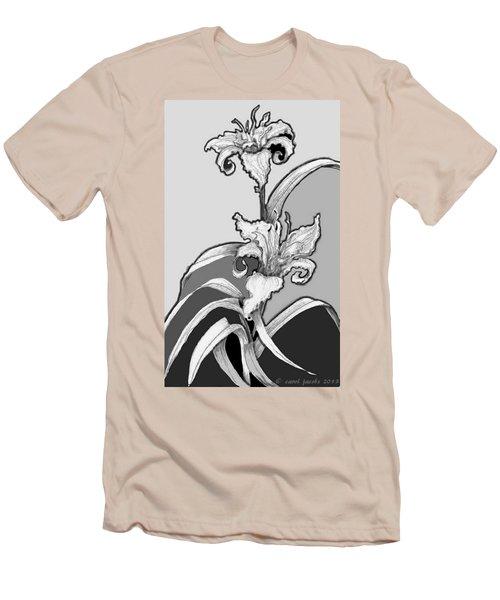 Day Lillies Men's T-Shirt (Slim Fit) by Carol Jacobs