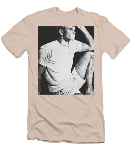 Men's T-Shirt (Slim Fit) featuring the drawing Daydreaming by Sophia Schmierer