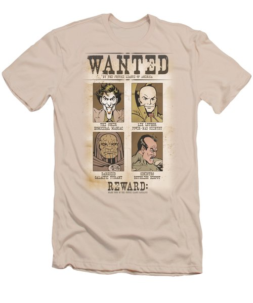 Dc - Wanted Poster Men's T-Shirt (Athletic Fit)