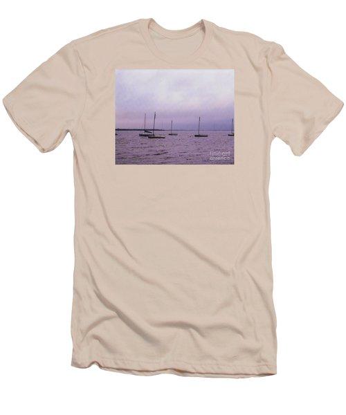 Delaware Harbor Men's T-Shirt (Slim Fit) by David Jackson