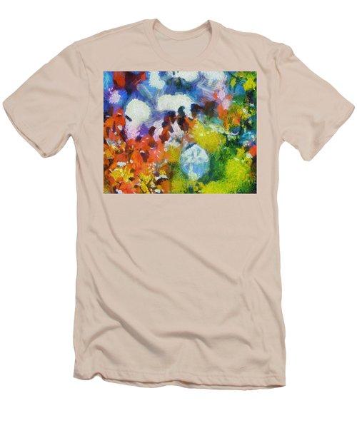 Men's T-Shirt (Slim Fit) featuring the digital art Delightful Surprise by Joe Misrasi