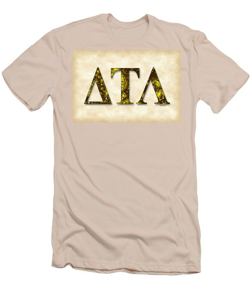 Delta Tau Lambda - Parchment Men's T-Shirt (Slim Fit) by Stephen Younts