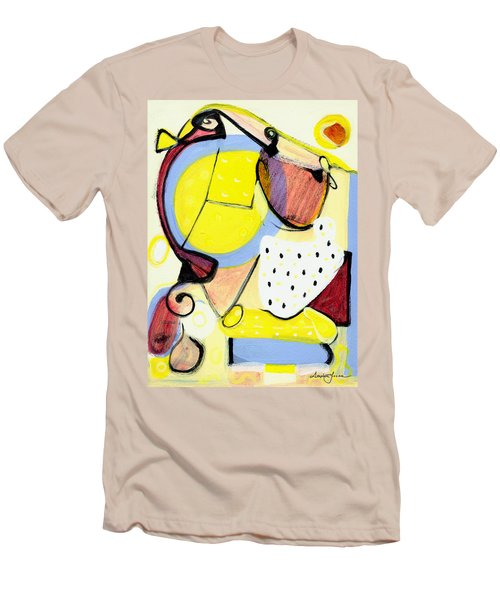 Men's T-Shirt (Slim Fit) featuring the painting Desert Bloom by Stephen Lucas