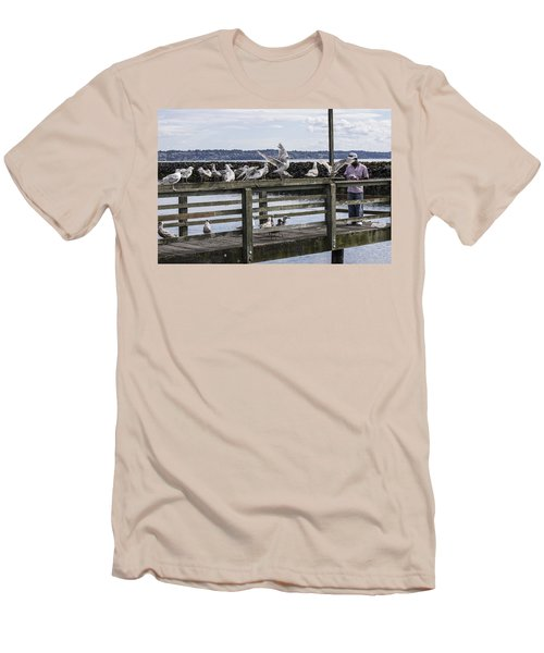 Dinner At The Marina Men's T-Shirt (Slim Fit) by Cathy Anderson
