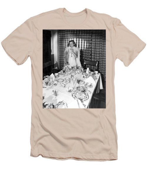 Dinner Party Table Setting Men's T-Shirt (Athletic Fit)