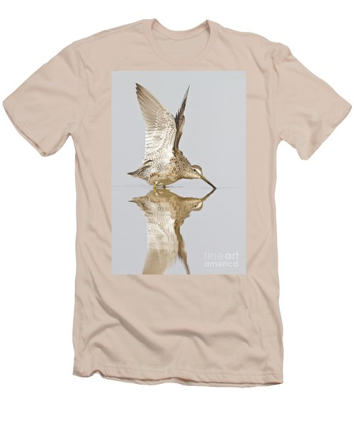 Dowitcher Wing Stretch Men's T-Shirt (Slim Fit) by Bryan Keil