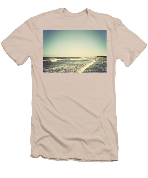 Down The Shore - Seaside Heights Jersey Shore Vintage Men's T-Shirt (Slim Fit) by Terry DeLuco