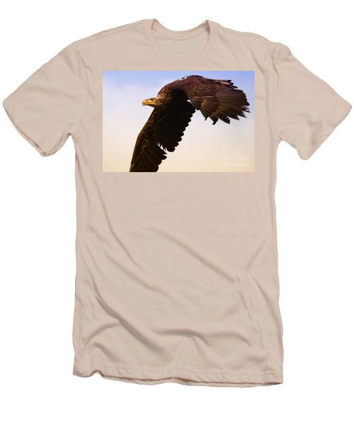 Men's T-Shirt (Slim Fit) featuring the photograph Eagle In Flight by Nick  Biemans