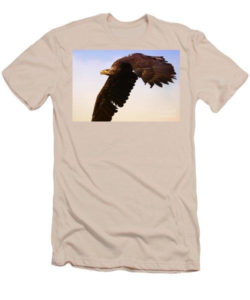 Eagle In Flight Men's T-Shirt (Slim Fit) by Nick  Biemans