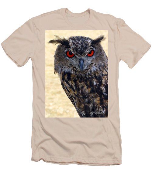 Eagle Owl Men's T-Shirt (Slim Fit) by Anthony Sacco