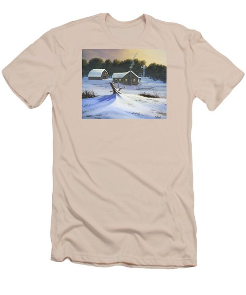 Early Snow Men's T-Shirt (Slim Fit) by Jack Malloch