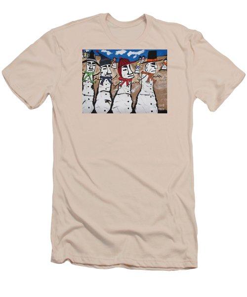 Easter Island Snow Men Men's T-Shirt (Slim Fit) by Jeffrey Koss
