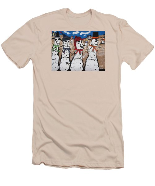 Easter Island Snow Men Men's T-Shirt (Athletic Fit)