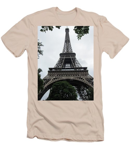 Men's T-Shirt (Slim Fit) featuring the photograph Eiffel Tower by Pema Hou