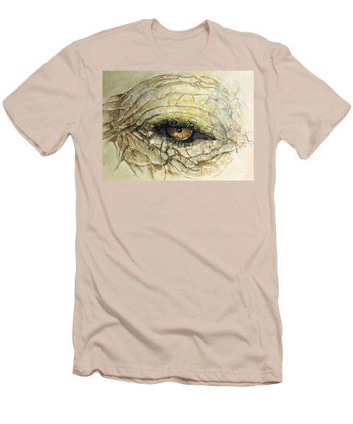 Elephant Eye Men's T-Shirt (Slim Fit) by Bernadette Krupa
