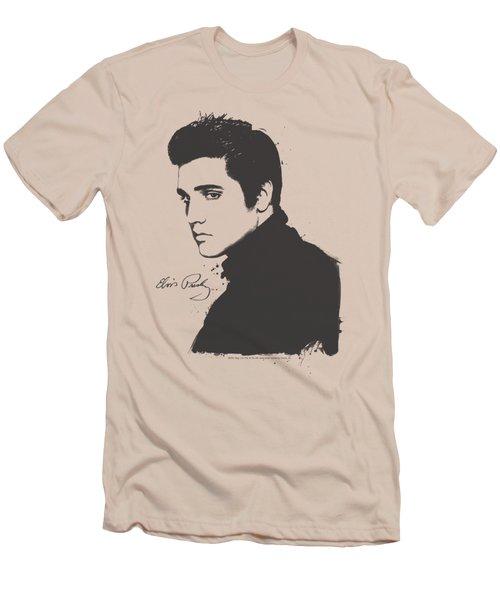 Elvis - Black Paint Men's T-Shirt (Athletic Fit)