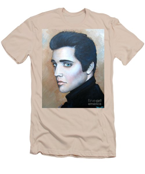 Men's T-Shirt (Slim Fit) featuring the painting Elvis by Patrice Torrillo