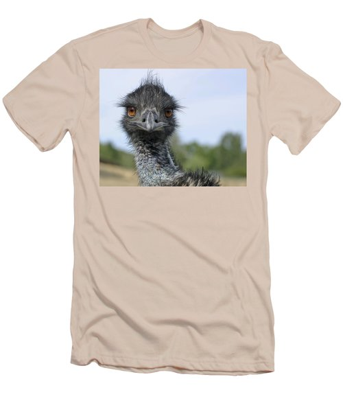Men's T-Shirt (Slim Fit) featuring the photograph Emu Gaze by Belinda Greb
