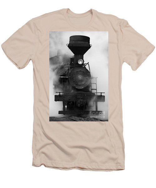 Men's T-Shirt (Slim Fit) featuring the photograph Engine No. 6 by Jerry Fornarotto