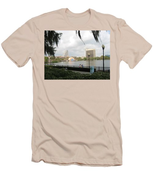 Eola Park In Orlando Men's T-Shirt (Athletic Fit)