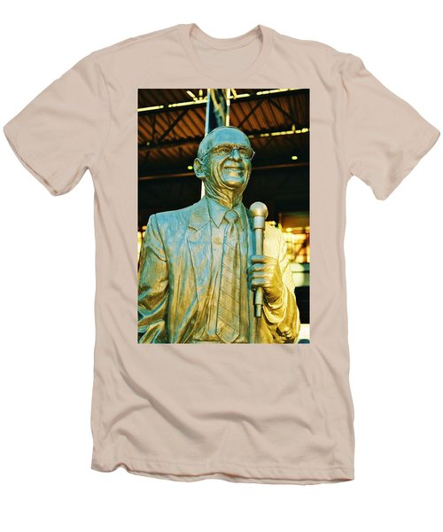 Ernie Harwell Statue At The Copa Men's T-Shirt (Slim Fit) by Daniel Thompson