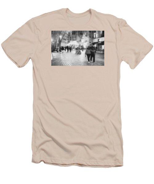 Evening Stroll In Paris Men's T-Shirt (Slim Fit) by Hugh Smith